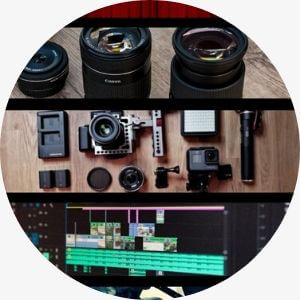 Camera lenses. Photography and filmmaking equipment. DSLR camera and lenses. Videography and filmmaker services..
