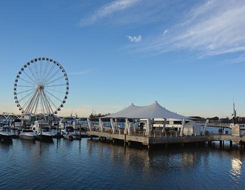 Ferris Wheel. Maryland. Ocean. Photography.