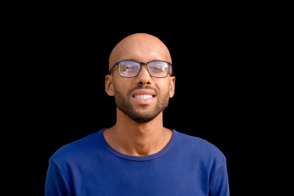 Man with glasses. Web design. Filmmaking. Website design and SEO.