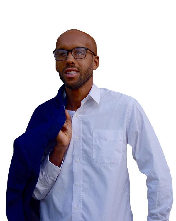 Man with blazer and white dress up shirt. SEO expert NYC