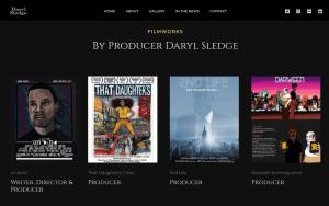 Multiple film posters on web design portfolio.